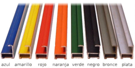 Informacion marcos for Colores de perfiles de aluminio